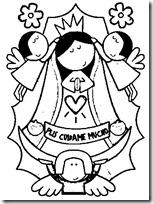 Dibujos Para Colorear De La Virgen De Guadalupe