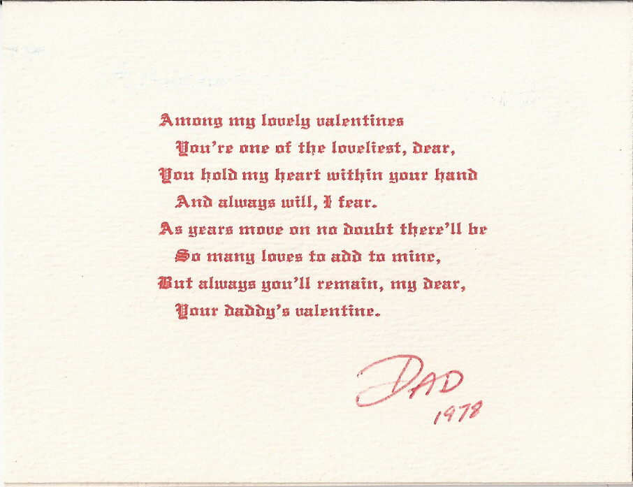 Valentines Day Quotes For Dad From Daughter: Funny Dad Poems From Daughter