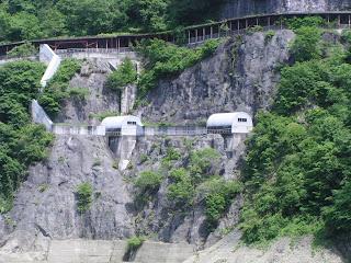 玉原ダムからの揚水発電用導水管の導水部