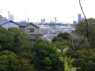 神戸市街地を望む