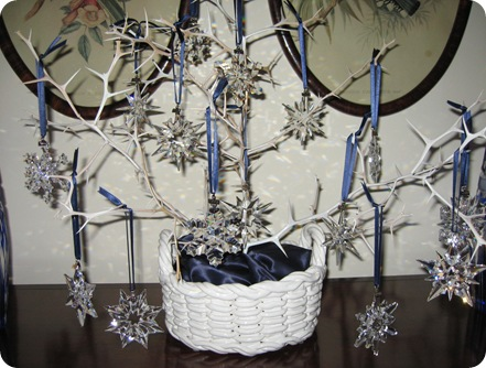 Display Christmas Ornaments Without Tree