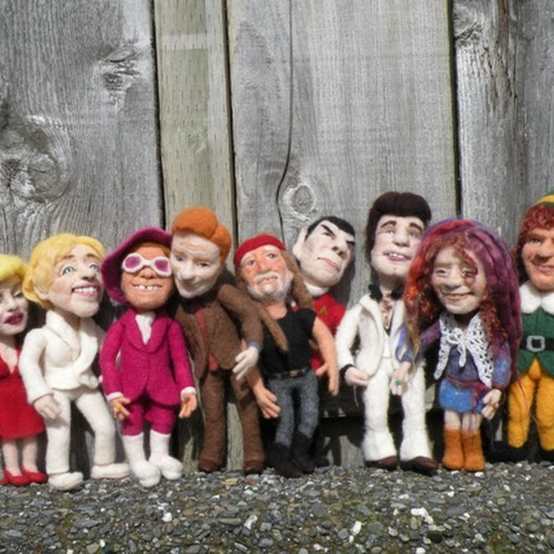 Kay Petal's Needle Felted Celebrity Wool Sculptures