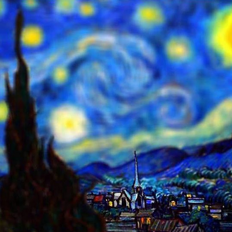 Tilt-Shifted Van Gogh's Paintings