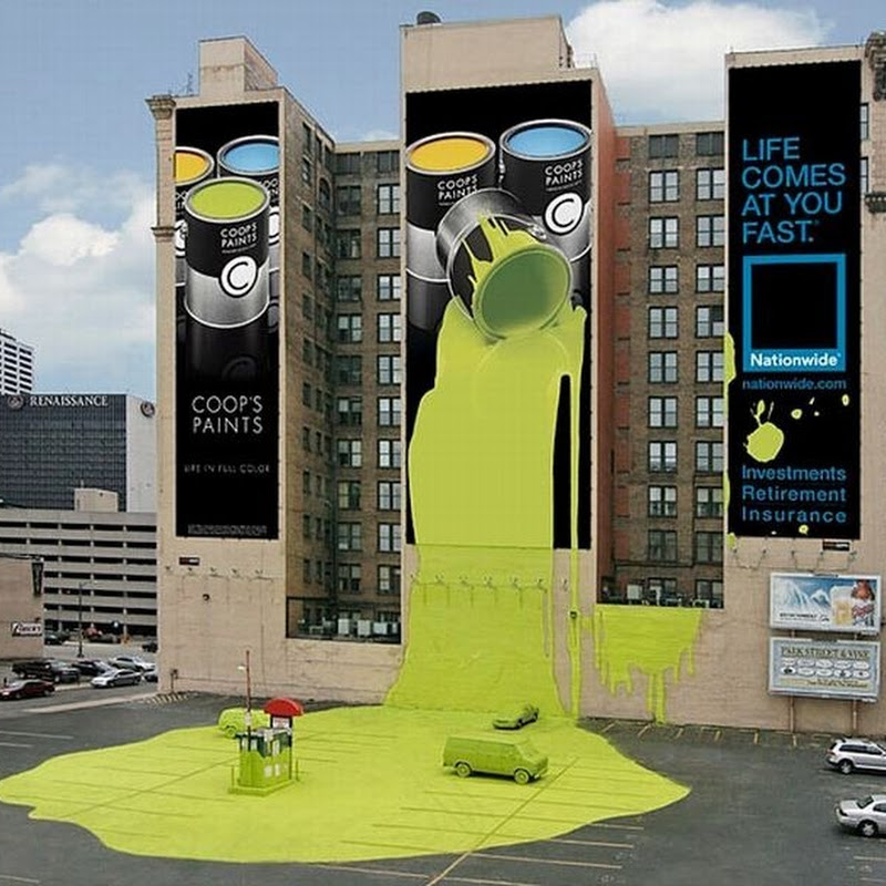 Creative Advertisements on Buildings