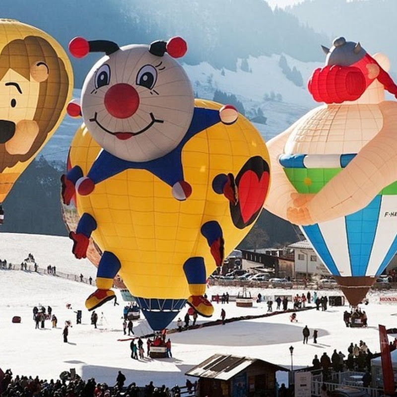 International Balloon Festival at Chateau d'Oex