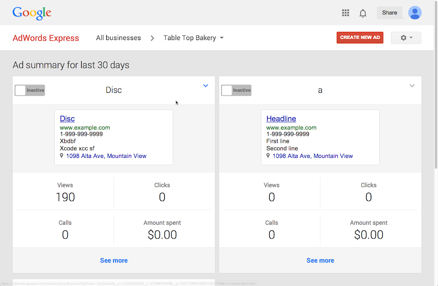 how to delete adwords express account