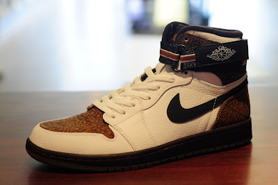 best sneakers 775b7 d92e2 ... strap in brown elephant print and white pebble leather. aj 1 high in  black tonal colorway with ostrich and snake leather accents. air jordan ...