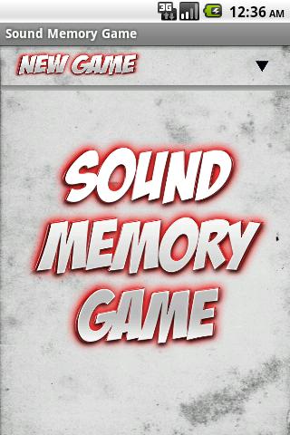 Sound Memory Game