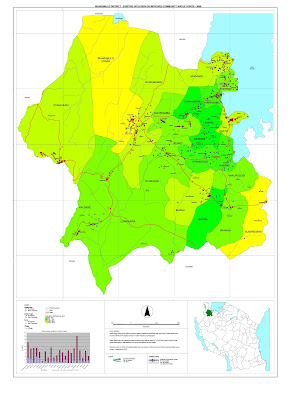 Maps from baseline survey of Tanzania - Water Point Mapping