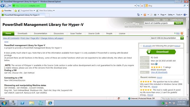 Wayne Hoggett: Procedure: Install Hyper-V PowerShell Module