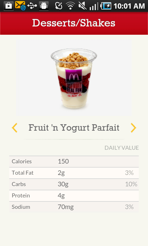 McD App - screenshot