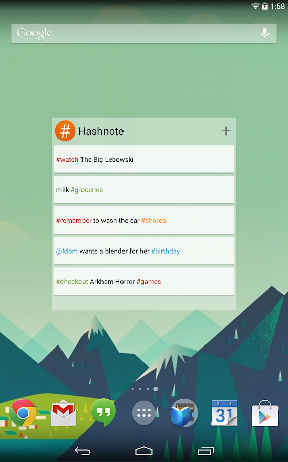 Hashnote - screenshot