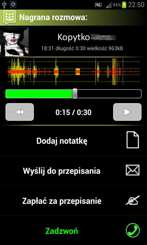 Nagrywanie Rozmów dla Każdego - screenshot