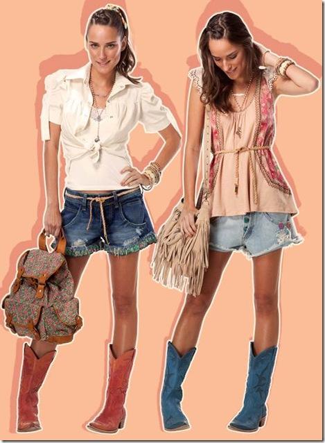 4effe6cf4 Entre as peças de maior sucesso da mini coleção de outubro estão as botas  cowboy – disponíveis nas cores azul e vermelho – um verdadeiro objeto de  desejo.