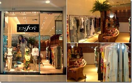 50e6d619f A grife carioca Enjoy inaugurou a sua terceira loja na cidade, desta vez no  Shopping Curitiba. A coleção verão 2011 traz contraposições de peças  neutras e ...