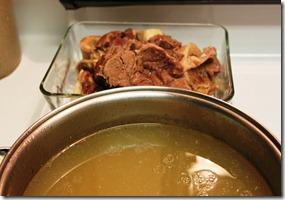 Caldo de res, mexican beef soup with vegetables