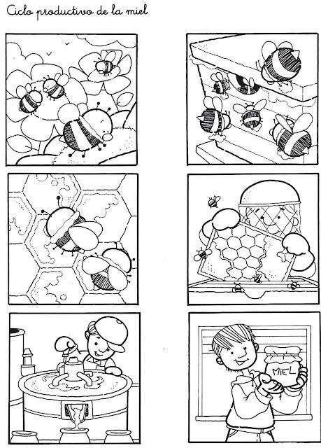 laminas de secuencias para aprender y pintar