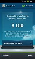 Screenshot of Recarga