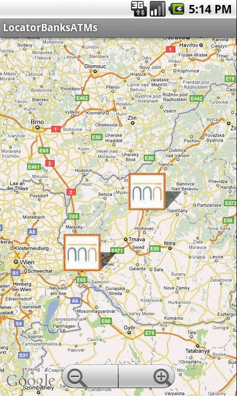 Locator Banks/ATMs - screenshot