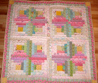 Baby Cabin Log Pattern Quilt Sewing Patterns For Baby