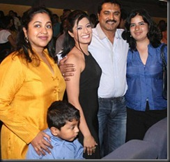 Sarath Kumar With His Family