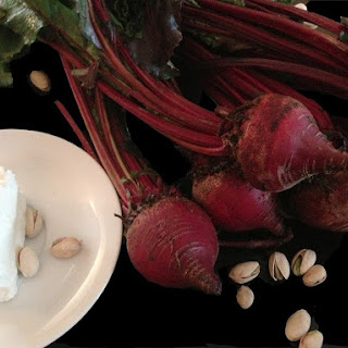 Roasted Beet, Goat Cheese, and Pistachio Salad.