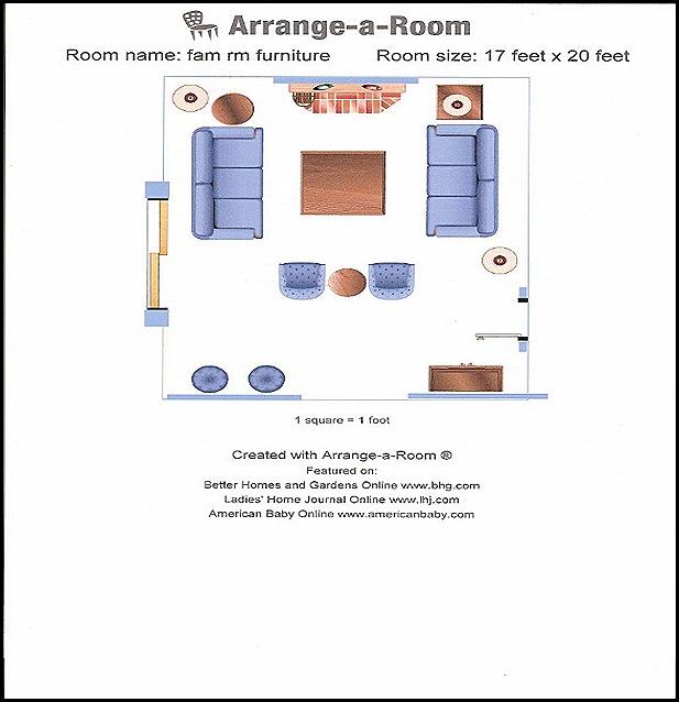 Good Life Of Design Someday Family Room Floor Plan