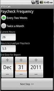 PTO Calc- screenshot thumbnail