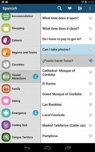玩免費旅遊APP|下載Learn Spanish Phrasebook Pro app不用錢|硬是要APP