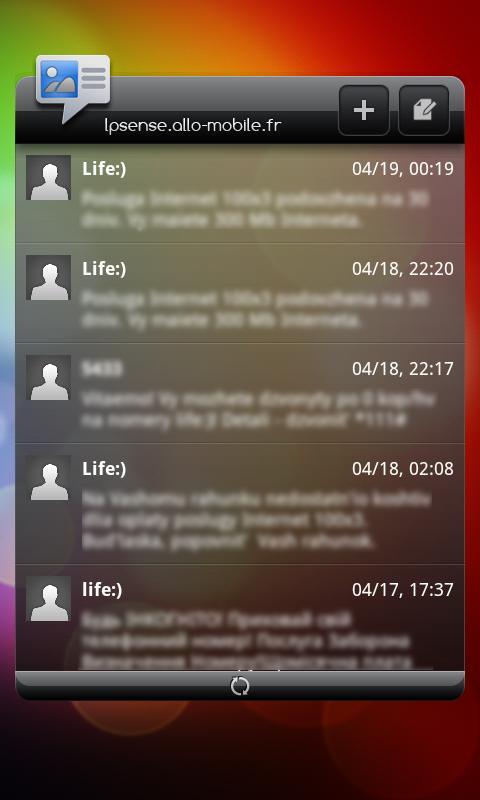 LP Sense skin + Clock widget- screenshot