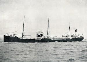 Fig 1.- The Twin-screw Motor-driven Oil Tanker SEBASTIAN, on trial. Photo Frank & Sons, So. Shields. THE SHIPBUILDER 1914.jpg