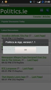 Politics.ie Mobile App screenshot 1