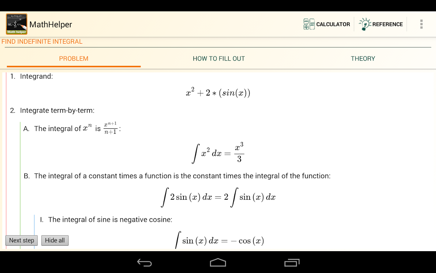 Math Helper - Algebra Calculus - screenshot