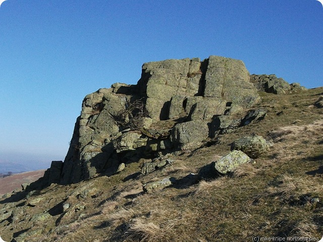 devils crag on the rocky climb