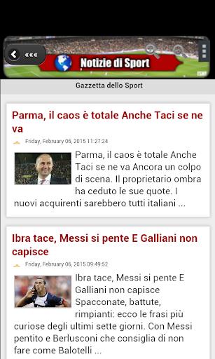 Notizie di Sport