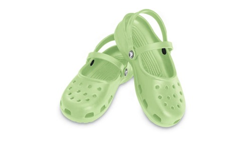 crocs mary jane lys grønn