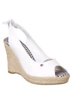 Hilfiger Capri Bianco Tacco scarpe Tommy Sandali Con Rich c5L34ARjq