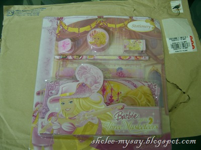 Barbie stationery