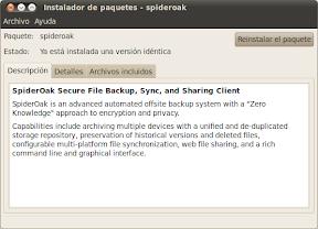 Instalador de paquetes - spideroak_060