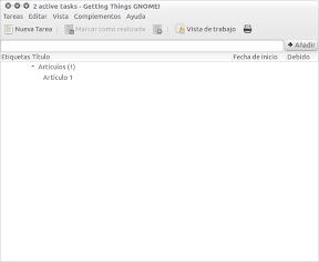 Tomar notas con Getting Things Gnome en Ubuntu