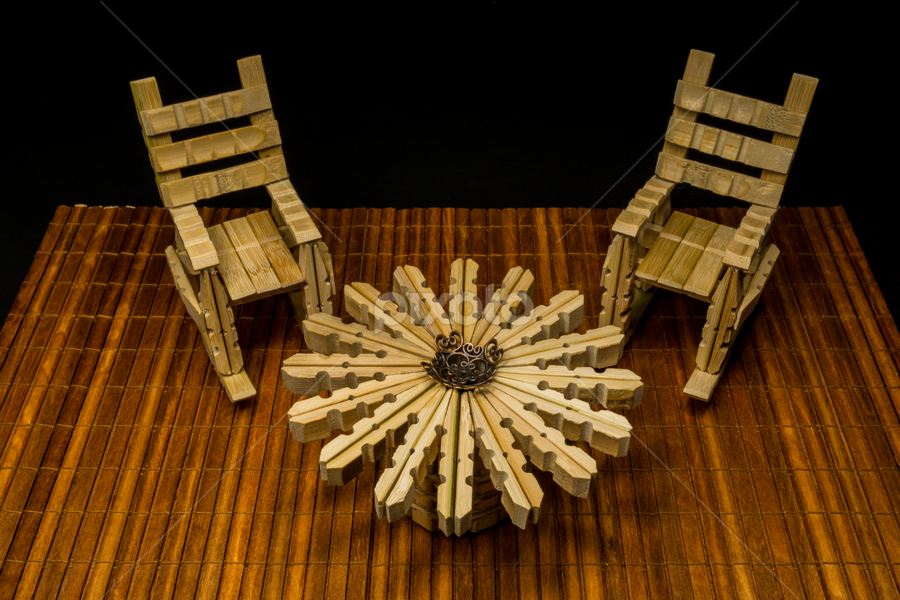 Awe Inspiring Rocking Chair Table Made From Wooden Clothespins Other Squirreltailoven Fun Painted Chair Ideas Images Squirreltailovenorg