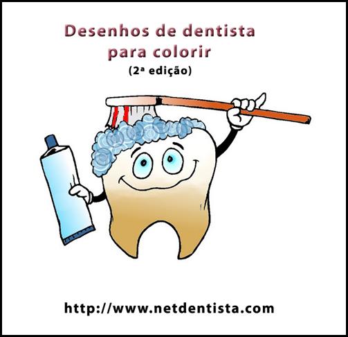 desenho dentista para colorir