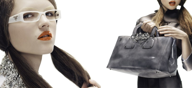 9ee1e1da5229 The new Prada Spring Summer 2010 womenswear ad campaign is the complete  opposite of their moody and cinematic menswear counterpart.