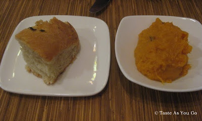 Bread and Sweet Potato Spread at Josie's East in New York, NY - Photo by Taste As You Go