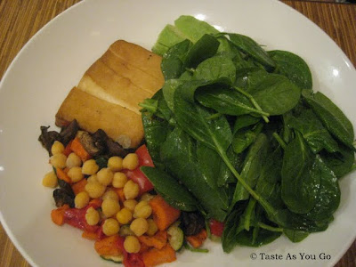 Seared Asian-Marinated Organic Tofu Salad at Josie's East in New York, NY