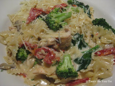 Roasted Chicken Pasta at Parkside Grill in Knoxville, TN - Photo by Taste As You Go