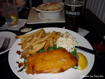 Harp-Battered Fish & Chips at The Perfect Pint in New York, NY