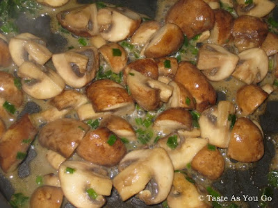 Mushrooms and Scallions in Butter | Taste As You Go