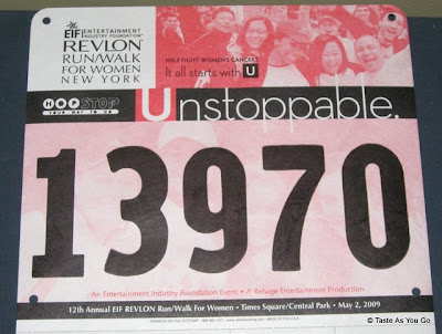 Revlon Run Bib Number 13970 - Photo by Taste As You Go