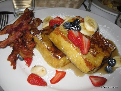 French Toast with Bacon at La Giara in New York, NY | Taste As You Go